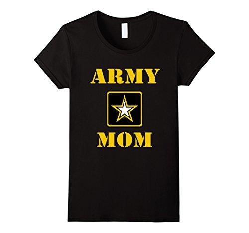 Army Mom Womens T-shirt (Womens U.S. ARMY Proud Mom ARMY T-Shirt Large Black)