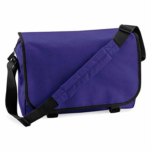 BagBase Messenger Bag Purple BagBase Messenger E0wq5c