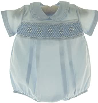 Amazon Com Feltman Brothers Newborn Boys Blue Smocked