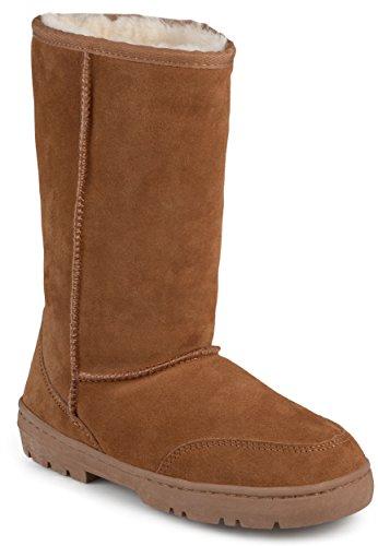 Brumby Womens Sheepskin Shearling Boots Chestnut Jg05P