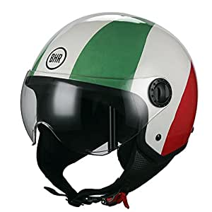 BHR 27022 Casco Moto Demi-Jet Linea One 801, Italia Flag, XL (