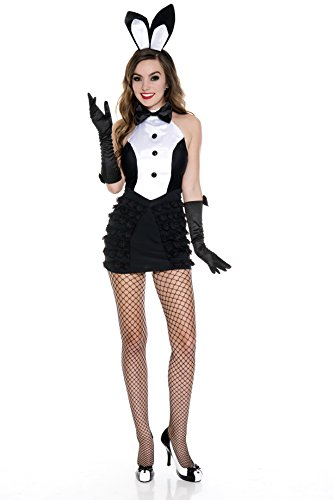Music Legs Women's Mrs. Tux Bunny, Black/White, Medium/Large]()