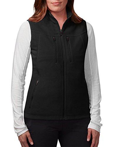 (SCOTTeVEST Fireside Fleece Vest for Women - 15 Pockets - Warm Fleece Travel Vest BLK)