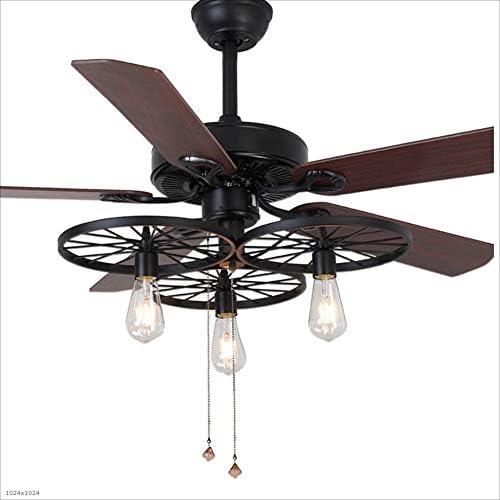 Ventiladores para el Techo con Lámpara Fan de techo industrial retra del estilo con los ventiladores