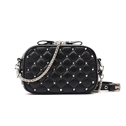 Genuine Leather Crossbody Bags for Women Messenger Bags Small Female Shoulder Handbags,black ()