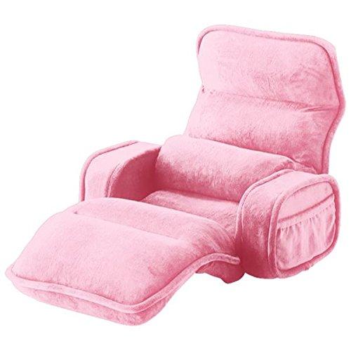 42段階省スペースギア全身もこもこ座椅子 ひじ付幅74cm ベビーピンク 生活用品 インテリア 雑貨 インテリア 家具 座椅子 top1-ds-1938080-ah [簡素パッケージ品] B075N9XYLR