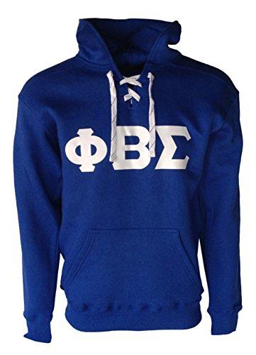 Lace Hooded (Mega_Greek Mens Phi Beta Sigma Sports Lace Hooded Sweatshirt (Royal Blue, XX-Large))
