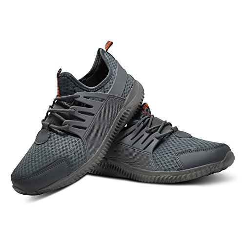 Xelay Mens Basketball Hi Top Ankle Trainers Boots Get Fit Mesh Running Sports Shoes Size UK 6 - 11 Grey Low Top MT63GW5