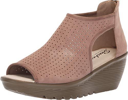 (Skechers Women's, Parallel Beehive Wedge Sandals Mushroom 11 M)
