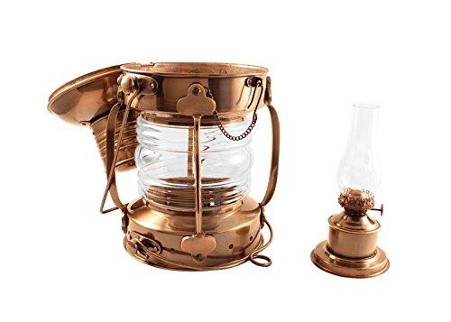 Vermont Lanterns Brass Anchor Lamp - Ship Lantern (15'', Antique Brass)