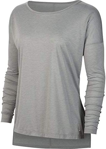 ウィメンズ ヨガ レイヤー L/S トップ トレーニングシャツ (CJ9325) (073)パーティクルグレー XL