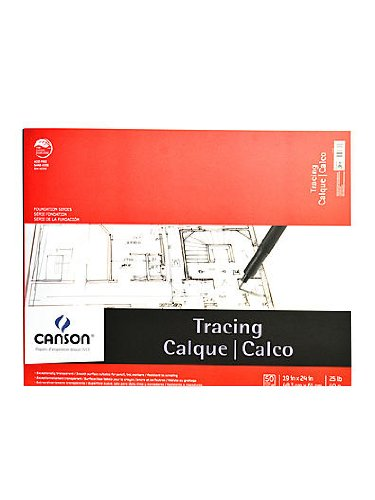 Canson 702324 Canson Tracing Paper Pad, 19 X 24-Inch, 50 Sheets