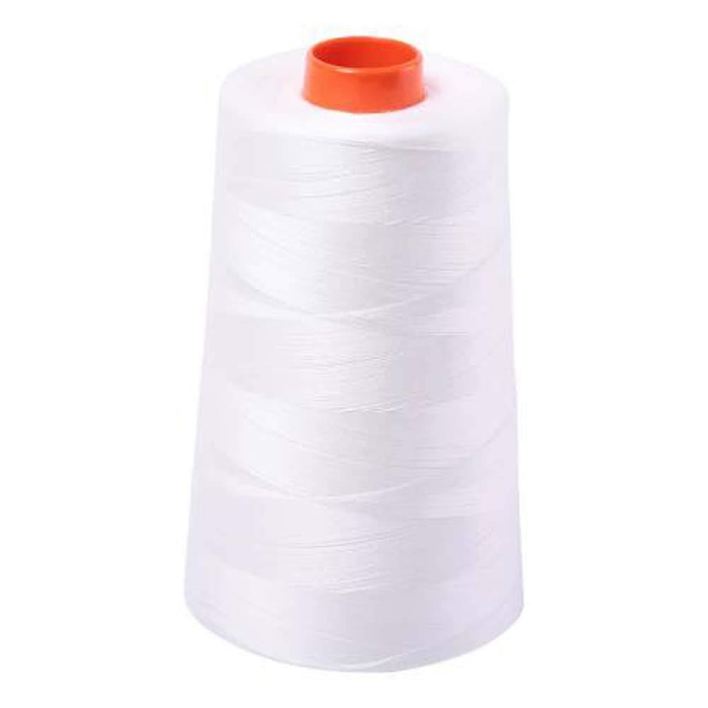 Aurifil 2021 50 Wt 100% Cotton Thread, 6,452 Yard Cone Natural White by Aurifil