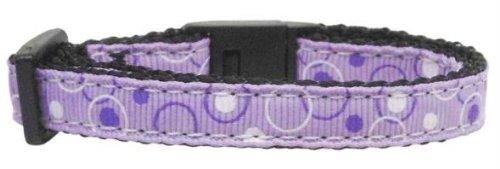 Retro Nylon Ribbon Collar Lavender Cat Safety (24 Pack) [Misc.]