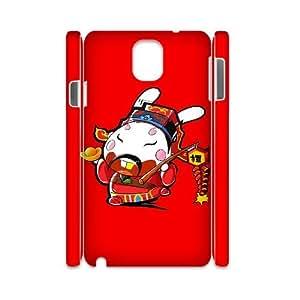 3D Okaycosama Funny Samsung Galaxy Note 3 Case Funny 190 Cheap for Boys, Luxury Case for Samsung Galaxy Note3, [White]
