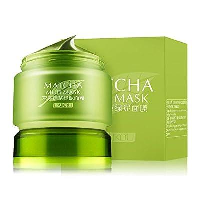 MATCHA Green Tea Face Mask, Organic Jiangsu Green Tea Matcha Facial Mud Mask, Improves Complexion, Anti-Aging, Detoxifying, Antioxidant, Moisturizer, Anti-Acne from Laikou