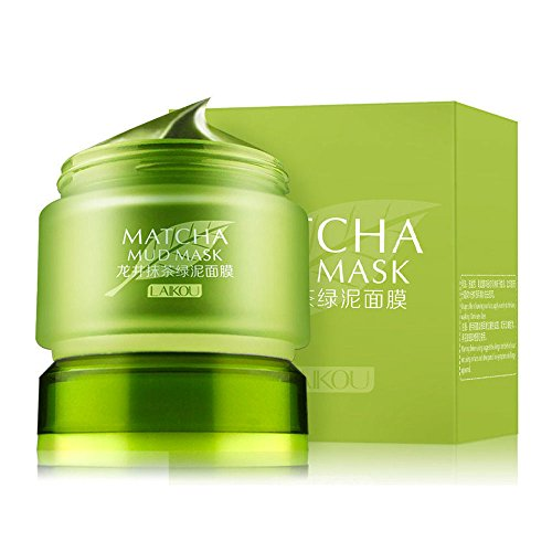 MATCHA Green Tea Face Mask, Organic Jiangsu Green Tea Matcha Facial Mud Mask, Improves Complexion, Anti-Aging, Detoxifying, Antioxidant, Moisturizer, Anti-Acne
