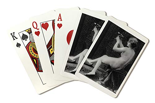 Nude Woman French Art Nouveau?Wine Cup Photograph #2 (Playing Card Deck - 52 Card Poker Size with Jokers) ()