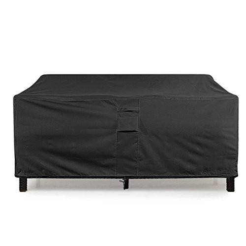 (KHOMO GEAR - PANTHER Series - Waterproof Heavy Duty Outdoor Lounge Loveseat Sofa Patio Cover - Medium - 2 & 3 Seats)