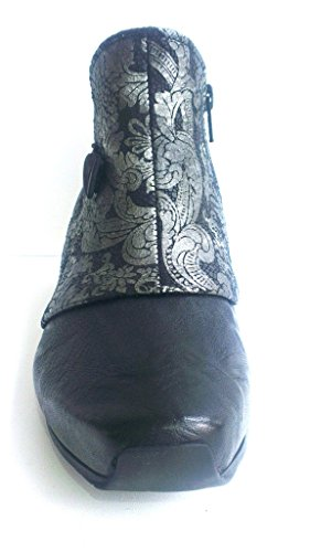 Think Stiefelette, Capra-Rustico schwarz-kombiniert, herausnehmbares Fußbett für eigene lose Einlagen, Ana 81229-09