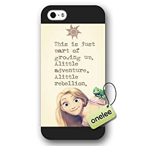 Disney Tangled Princess Rapunzel Frosted Phone Case & Cover for iPhone 5/5s - Black