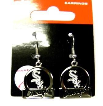 (Chicago White Sox Dangle Earrings - Bar Style)