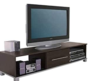 Mueble para televisor Pantalla panorámica Unidad Oscuro Madera wengué Acabado Apto para televisión (50) 1 cajón: Amazon.es: Hogar