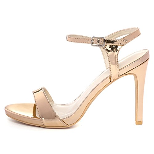 Caviglia Tacco Oro Donne 6 Sandali US Allegra Stiletto Rose Punta K Aperta 5 Cinturino XRwqp0