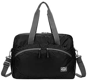 forestfish Women's Lightweight Gym Tote Bag Waterproof Sports Handbag, Black