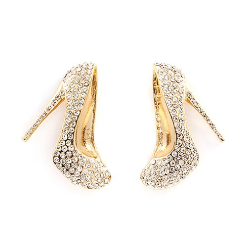 Fashion Fun Adorable Crystal Jeweled Stiletto Heels Shoe Design