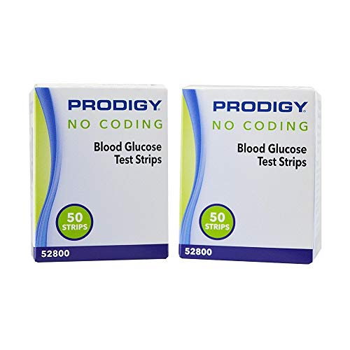Prodigy No Coding Blood Glucose Test Strips 300 Count (50 Strips x 6 Packs)