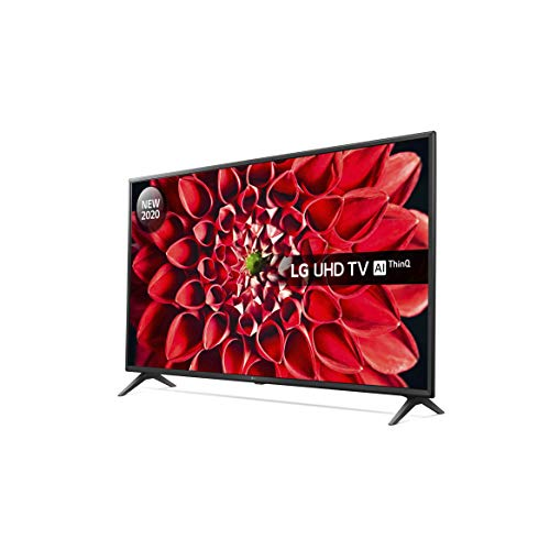 LG 49UN71006LB 49 Inch UHD 4K HDR Smart LED TV with Freeview HD/Freesat HD - Ceramic Black colour (2020 Model) with Alexa built-in [Energy Class A]