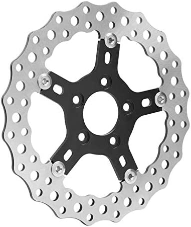 02-786 Arlen NessJagged Brake Rotor 11.5 Front//Rear Stainless Steel Drilled Blade with Black Hub Fits Harley Davidson Big Twin and Sportsters