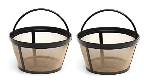 4-Cup Basket Style Permanent Coffee Filters fits Mr. Coffee 4 Cup Coffeemakers, Set of 2