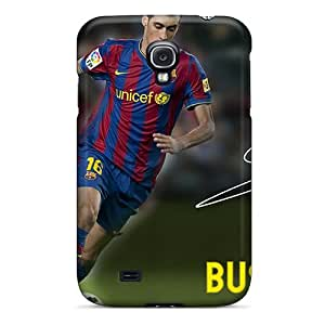 Hot Tpu Cover Case For Galaxy/ S4 Case Cover Skin - The Player Number 16 Of Barcelona Sergio Busquets