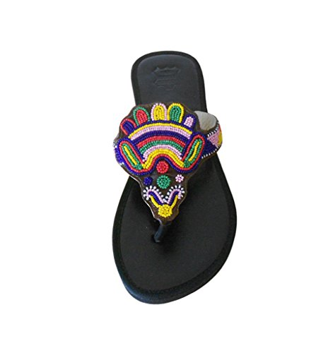 Traditionelle Damen indischen Schwarz ethnischen Handgemachte KALRA Leder Hausschuhe Creations X5PWTqcxwE