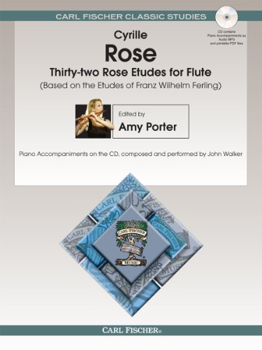 (The New Rose Studies for Flute (Piano Accompaniments Composed and Performed by John Parker Flute with CD))