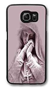 Samsung Galaxy S6 Edge Case, In Prayer High Quality Hard Shell Snap-on Case for Samsung Galaxy S6 Edge Black Bumper