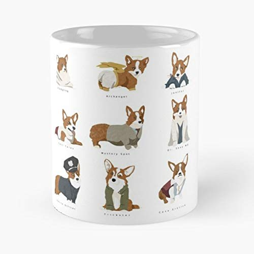 Women Leaving Great Office Gift Mugs 11 Oz. Birthday Cup Men Bold Gabriel Classic Mug -funny Present For My Greatest Boss Male Or Female Corgies