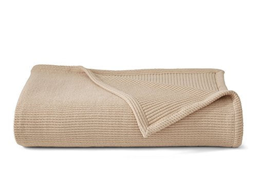 Grund Sea Pines 100% Organic Cotton, Ultra Soft, 66-inches by 90-inches, Driftwood, Throw Blanket (Solid Pine Blanket)