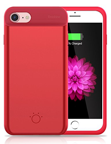 iPhone 8 / 7 / 6 / 6S Battery Case,Emishine Ultra Thin Rechargeable Charging Case for iPhone 8 / 7 / 6 / 6S (4.7