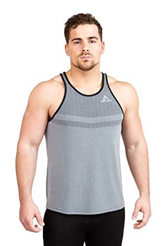 - Alone Alpha Men's Beast Tank Tops Muscle Gym Bodybuilding Vest Fitness Workout Train Stringers (Medium, Grey)