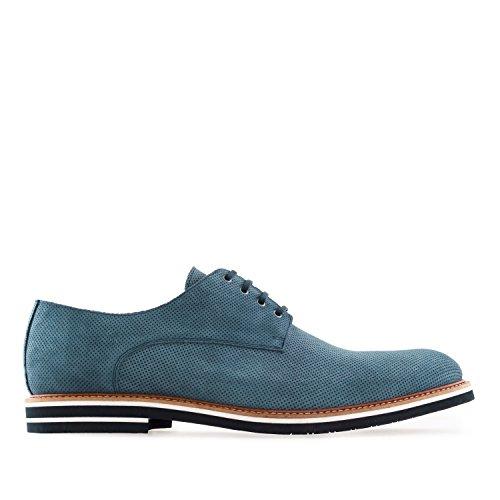 Caballero Oxford Made 47 Tallas 6188 Spain a 50 Serraje la Piel y Machado Zapatos Grandes Azulnew Andres IN de la atWAczw