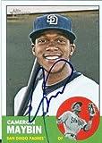 Cameron Maybin autographed baseball card (San Diego Padres) 2012 Topps Heritage #353