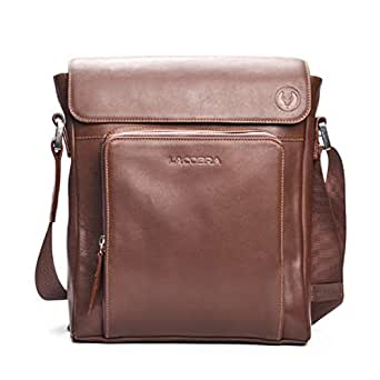 LACOBRA Leather Bag For Men,Brown - Messenger Bags