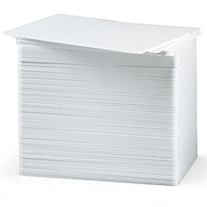 Tarjetas de PVC blancas en blanco para impresoras de ...