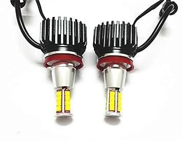 Par de bombillas LED CREE con marcador, H8, 160W, tipo halo de ojos de ángel 63217760782, 07119906503: Amazon.es: Coche y moto