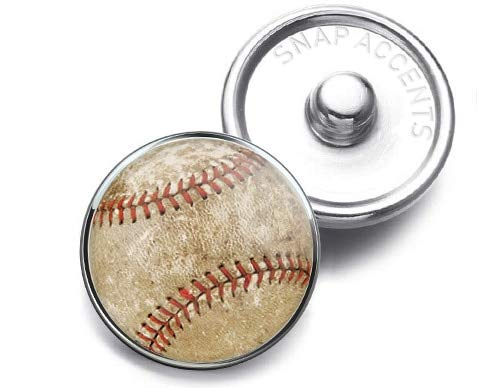 Vintage Baseball Snap Jewelry 18MM SnapAccents Charm Button