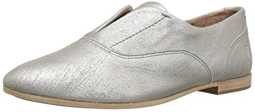 FRYE Damen Terri Slip On Loafer Flat Silber