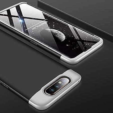 A90 3 in 1 Black Blue MRSTER Samsung A80 H/ülle 360 Full Body Schutz Schutzh/ülle Anti-Kratzer Sto/ßfest Ultra D/ünn Hart PC Bumper Handyh/ülle Kompatibel mit Samsung Galaxy A80